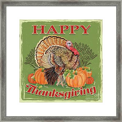 Framed Print featuring the painting Thanksgiving-b by Jean Plout