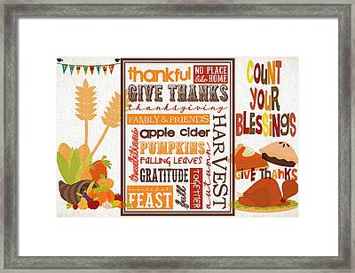 Thanksgiving Bounty Framed Print by Steve Ohlsen
