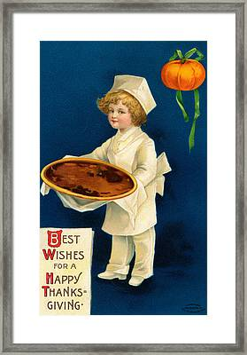 Thanksgiving Card Framed Print by Ellen Hattie Clapsaddle