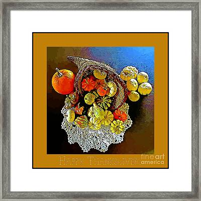 Thanksgiving Card Framed Print by John Malone
