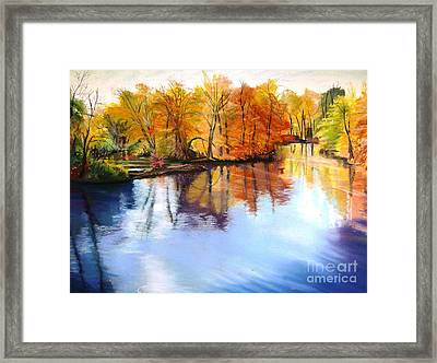 Thanksgiving Day II     Reflections On Blue Framed Print by Lucinda  Hansen