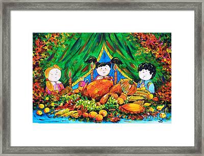 Thanksgiving Day Framed Print by Zaira Dzhaubaeva
