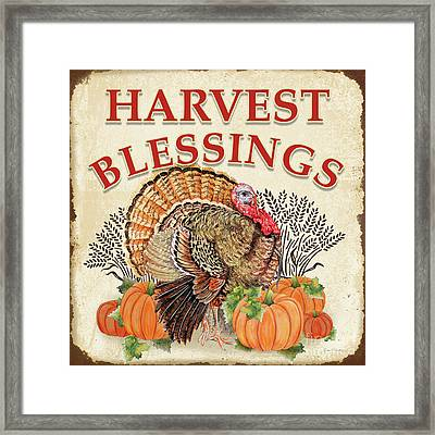 Framed Print featuring the painting Thanksgiving-e by Jean Plout