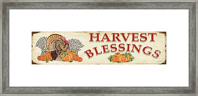 Framed Print featuring the painting Thanksgiving-f by Jean Plout