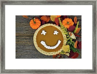 Thanksgiving Happy Pie Framed Print