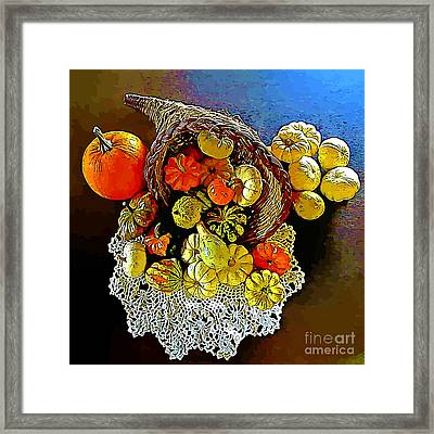 Thanksgiving Horn Of Plenty Framed Print by John Malone
