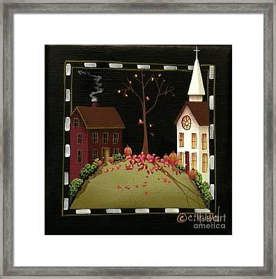 Thanksgiving In Kirkwood Village  Framed Print by Catherine Holman