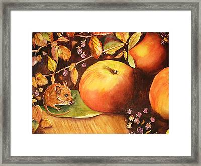 Thanksgiving Mouse Guest Framed Print by Patricia Pushaw