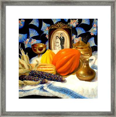 Framed Print featuring the painting Thanksgiving Of The Past by Donelli  DiMaria