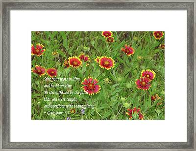 Thanksgiving Framed Print by Robyn Stacey
