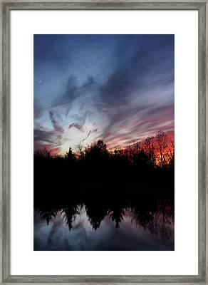 Thanksgiving Sunset Framed Print