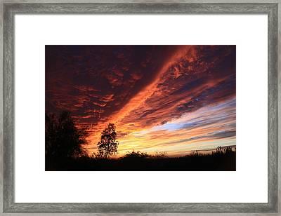Thanksgiving Sunset Framed Print by Gary Kaylor