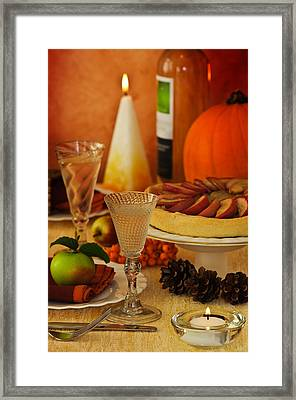Thanksgiving Table Framed Print by Amanda Elwell