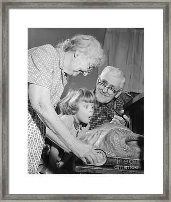 Thanksgiving Turkey, C.1950-60s Framed Print