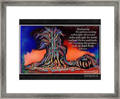 Thanksgivingblessing Framed Print