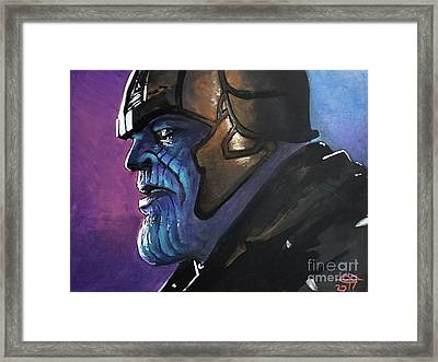 Thanos Framed Print by Tom Carlton
