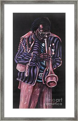 thanx Miles Davis Framed Print by George Chacon