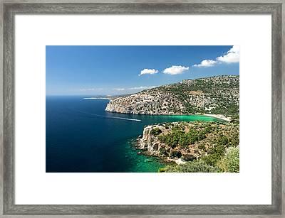 Thassos Island Framed Print by Radoslav Nedelchev