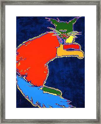 That Cat Next Door Framed Print