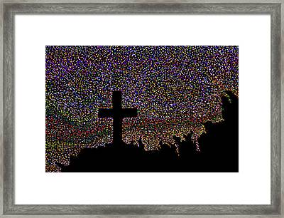 That Cross Out On The Hill Framed Print