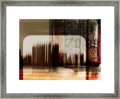That Day In The City When We Lost Track Of Time Framed Print