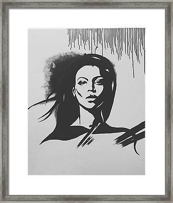 That Girl Framed Print by Farzana Matin