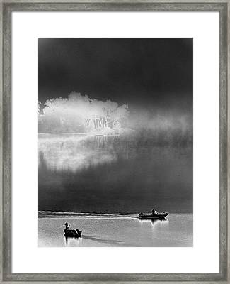 Framed Print featuring the photograph That Island There by Steven Huszar