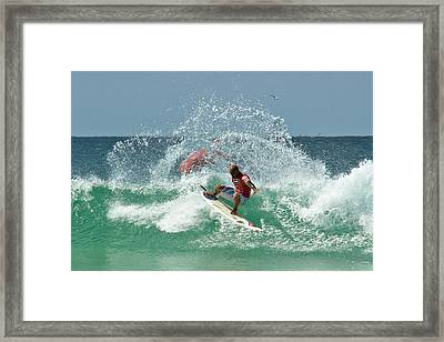 That Kelly Slater Wave Magic Framed Print by Odille Esmonde-Morgan