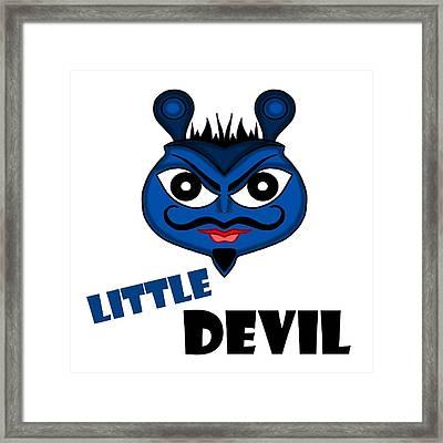 That Little Devil Framed Print