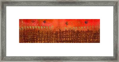 That Long Brown Fence Dividing You And Me Framed Print by Angela L Walker