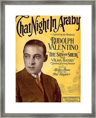 That Night In Araby Framed Print by Mel Thompson