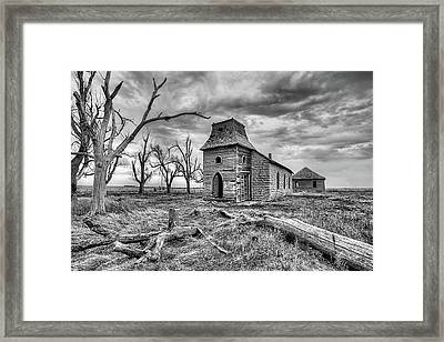 Framed Print featuring the photograph That Old Time Religion Black And White by JC Findley