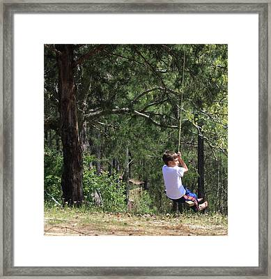 Framed Print featuring the photograph That Ole' Rope Swing by Kim Henderson