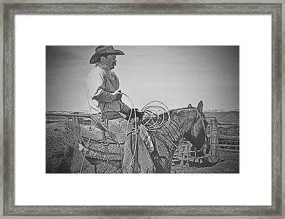 That Rope, That Shirt And That Hat Framed Print by Amanda Smith