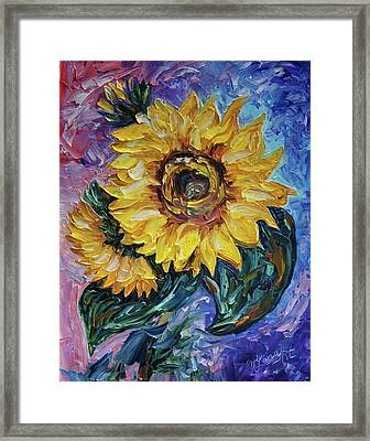 That Sunflower From The Sunflower State Framed Print