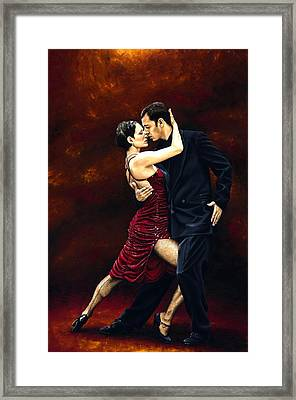 That Tango Moment Framed Print