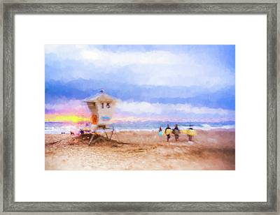 That Was Amazing Watercolor Framed Print