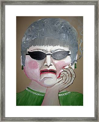 That Woman Framed Print by Sharon Supplee