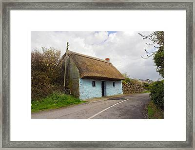 Thatch Roof Cottage Galway Framed Print by Pierre Leclerc Photography
