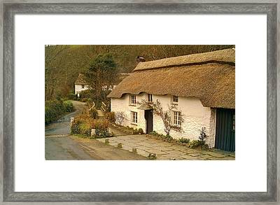 Thatched Cottage By Ford  Framed Print