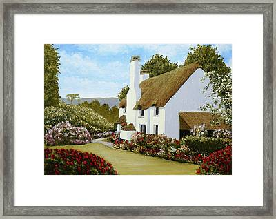 Thatched Cottage, Selworthy Framed Print