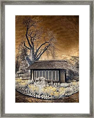 Framed Print featuring the photograph Thatched Cottage by Steve Zimic