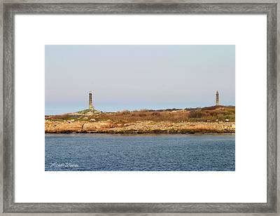 Thatcher Island Twin Lights Gloucester Massachusetts Framed Print