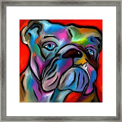 That's Bull - Abstract Dog Pop Art By Fidostudio Framed Print