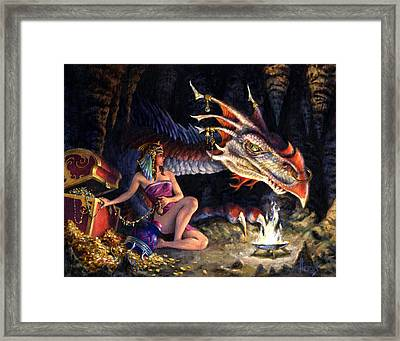 That's Mine Framed Print by Richard Hescox