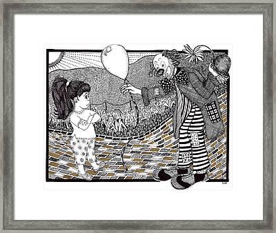 Thats Not A Hot Air Balloon Framed Print by Lenora Brown