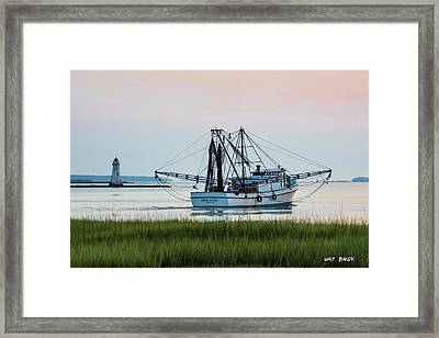 That's Where The Shrimp Are My Boy Framed Print
