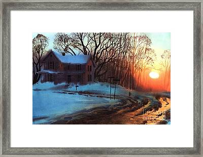 Framed Print featuring the painting Thaw by Sergey Zhiboedov