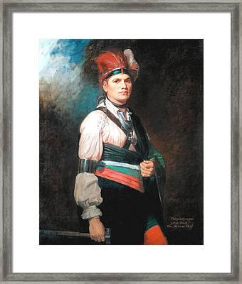 Thayendanegea-joseph Brant Framed Print by George Romney