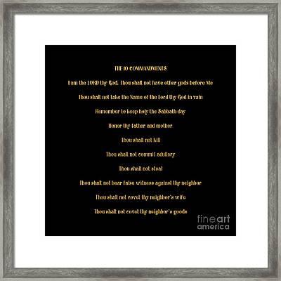 The 10 Commandments Framed Print by Rose Santuci-Sofranko